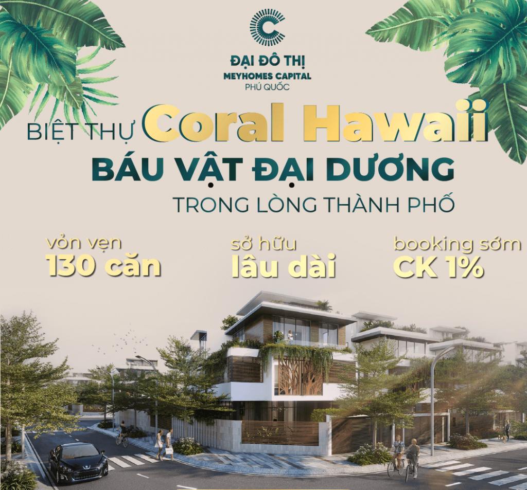Ưu đãi biệt thự Coral Hawaii